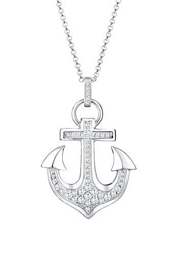 Elli Halskette Anker Hafen Zirkonia 925 Sterling Silber