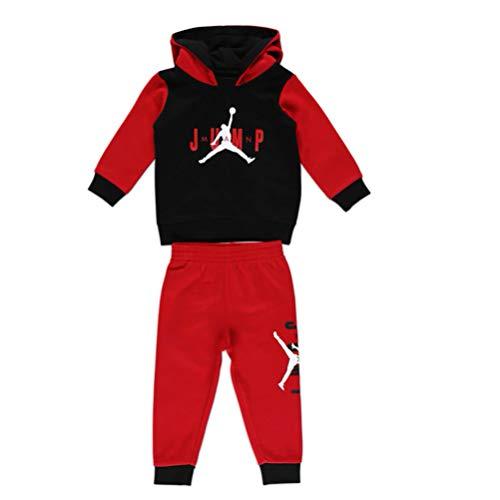 Nike Jordan Tuta Neonato Jumpman Sideline Rossa 656988-R78 (12 M)