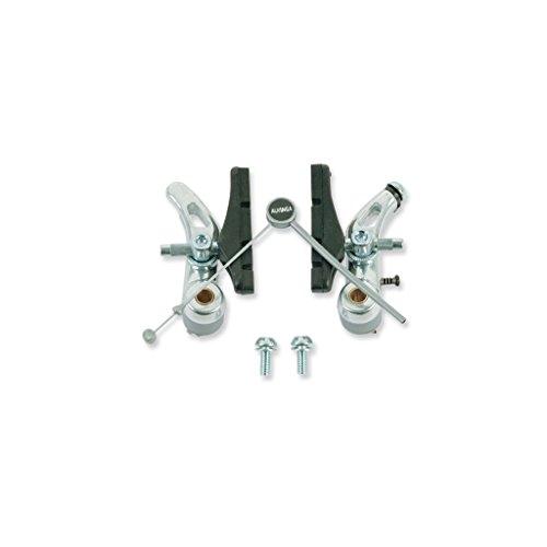 V PARTS - 830P : Juego puente freno tipo cantilever aluminio color plata