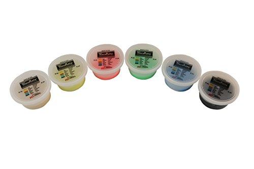 CanDo TheraPutty Plus Antimicrobial, 6 Piece Set, 2 oz