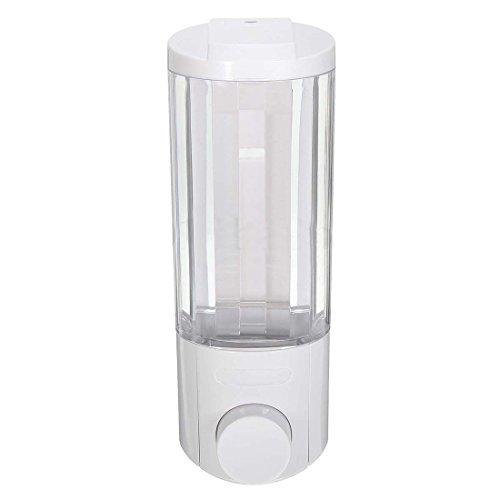 Dispensador de jabón líquido Cobeky montado en la pared baño desinfectante de manos gel de ducha champú titanio blanco