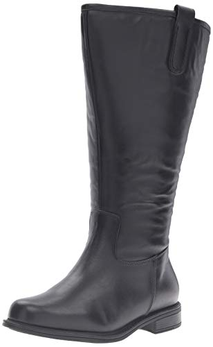 David Tate Best - Super Wide Calf Black Leather 2 12 W (D)
