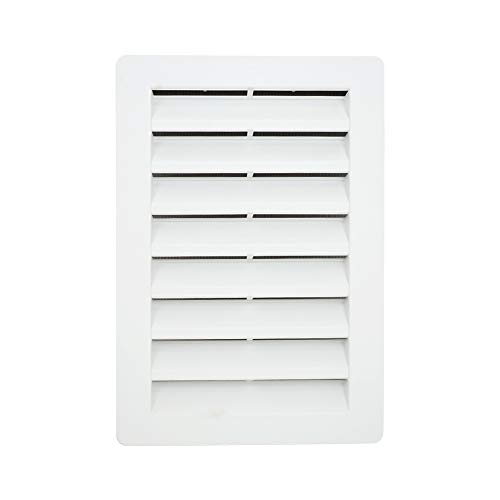 12' x 18' Rectangle Functional Gable Vent with Screen - 2 Piece Construction - White
