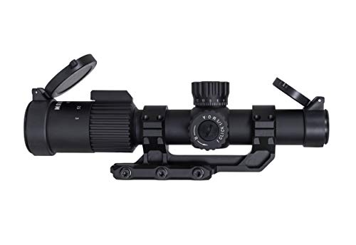 Monstrum G3 1-3x24 First Focal Plane FFP Rifle Scope with Illuminated MOA Reticle and Offset Cantilever Mount | Black