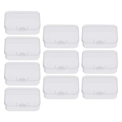 Generic 10個アコースティックギターホルダーケース収納ボックス小クリアプラスチックビーズ保存容器のための小物工芸品ジュエリーハードウェア