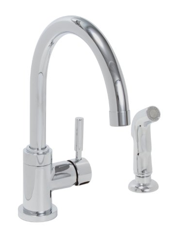Premier Faucet 120097 Essen Lead-Free Single-Handle High-Arc Kitchen Faucet, Chrome