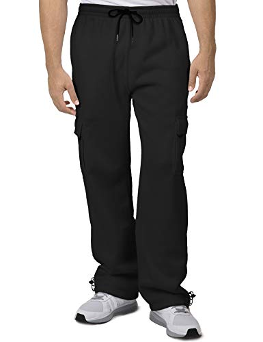 COOFANDY Men's Casual Cargo Pants Relaxed Stretchy Drawstring Waist Trousers