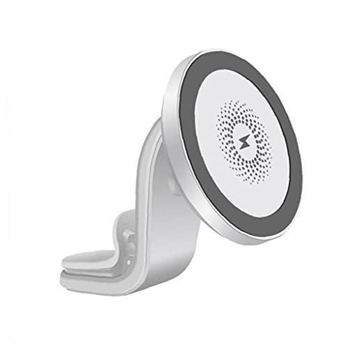 Cargador magnético sin porma cargador de coche inalámbrico 15W Magnético de carga rápida soporte de teléfono Montaje de ventilación Blanco