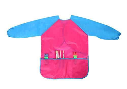 Malschürze Kinder Malkittel 5-10 JahreBastelschürze kinder Malschürze Unisex Wasserdichte Kunst Kittel zum Malen, Backen, Kochen