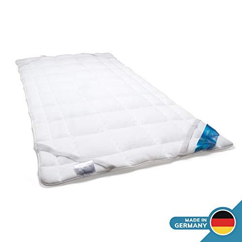 Schlafmond Medicus Clean Allergiker Matratzenschoner, Unterbett aus Baumwolle waschbar bis 95 Grad (100x200 cm)