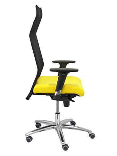 Piqueras Y Crespo (PIQU7) stoel Sahúco XL Bali geel tot 160 kg bureaustoel, eenheidsmaat