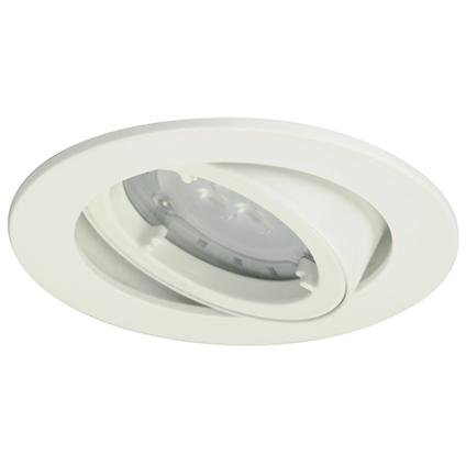 Light Topps Lot de 3 Spot LED encastrables 4,4 W orientable, 230LM 3000 K Blanc Chaud 91 mm Blanc