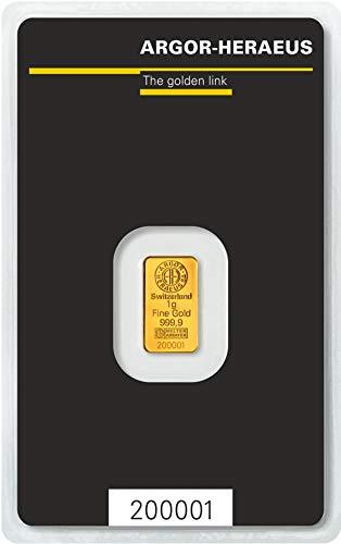 Argor-Heraeus 1g Goldbarren 999.9 Blister