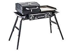 This camp grill/stove combo photo shows the Blackstone Grills Tailgater.