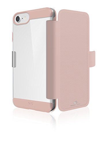 WHITE DIAMONDS - Innocence Business Folio Hülle für Apple iPhone 6/6S/7/8/SE (2020) | Magnetverschluss, Rundumschutz (Rose Gold)