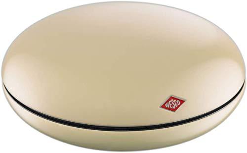 WESCO (ウェスコ) キャンディー、ジュエリー容器 アーモンド サイズ:∅22×H8.8cm チョコレート/ジュエリーボックス PEPPY CAN 224201-23
