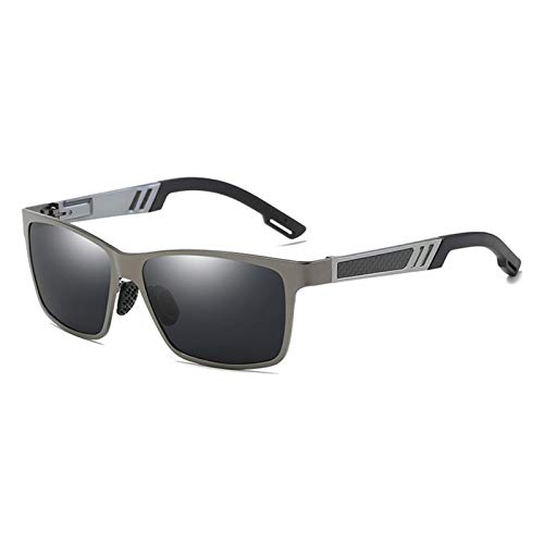 PrittUHU Aluminio Masculino polarizado para Hombre Gafas de Sol Espejo Gafas de Sol Accesorios de Gafas cuadradas para Hombres Hembra (Lenses Color : 2)