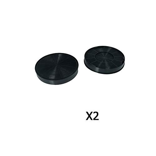 MarelShop®-Coppia 2 PZ filtri carbone cappa per Faber compatibili diametro 19,5cm altezza 3cm