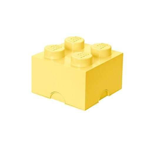 LEGO Aufbewahrungsstein, 4 Noppen, Stapelbare Aufbewahrungsbox, 5,7 l, hellgelb