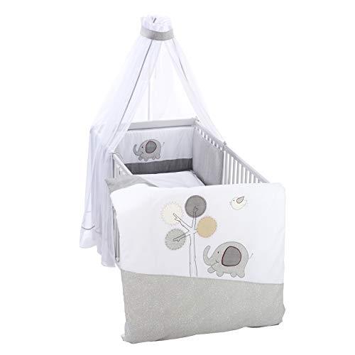 Alvi Bettset Himmelset für Kinderbett Applikation Jumbo grau 100x135 cm 410159239