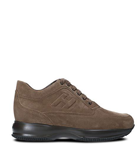 Moda De Lujo | Hogan Hombre HXM00N09042HG0S413 Marrón Cuero Zapatillas | Otoño-Invierno 20
