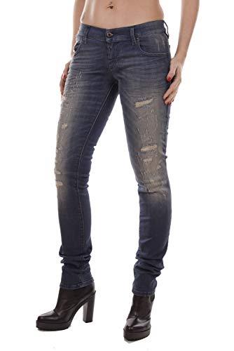 Diesel Donna Grupee RI141 Stretch Jeans (25W / 32L, Blu)