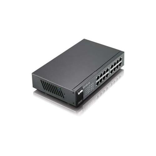 ZyXEL GS1100–16Ethernet Switch–16Anschlüsse–16x RJ-45–10/100/1000Base-T