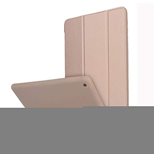 LESLEY LM For iPad 10.2 inch TPU Horizontal Flip Leather Case, with Three-folding Holder 2021 NEW MODEL (Color : Gold)
