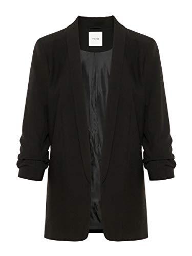 PIECES Pcboss 3/4 Blazer Noos Chaqueta de Traje, Negro (Black Black), 42 (Talla del Fabricante: X-Large) para Mujer