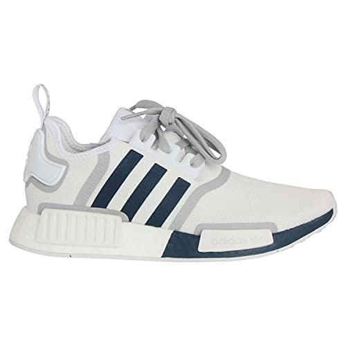 adidas NMD_R1, Sneaker Hombre, Footwear White/Crew Navy/Grey, 44 EU