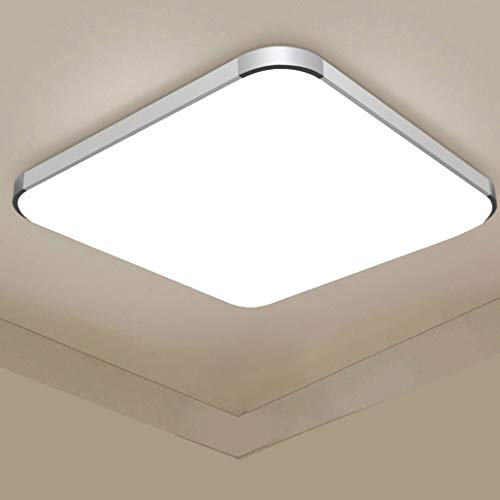 48W Luces de techo,Regulable Lámpara de techo LED ultra delgada Lámpara de la sala de estar del dormitorio de la cocina (48W Regulable)