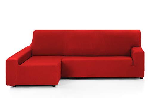 Martina Home Tunez Funda Chaise Longue, Rojo, Brazo izquierdo