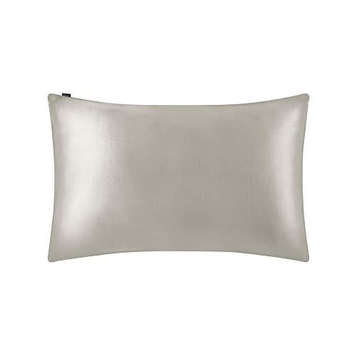 LilySilk Luxus Seide Kopfkissenbezug Kissenbezug mit Hotelverschluss Kissenhülle aus 100% Maulbeerseide Kissen 1 Stück 19 Momme in Schachtelverpackung Silbergrau 40x80cm Verpackung MEHRWEG