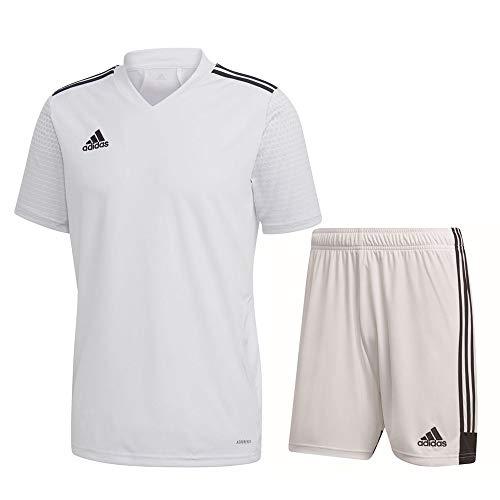 adidas Fußball Regista 20 Trikotset Trikot Shorts Trainingsset Herren weiß Gr XS