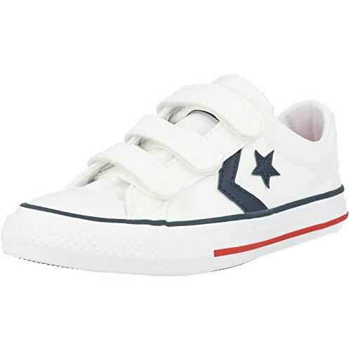Converse 315660, Scarpe Outdoor Multisport Unisex – Bambini, Multicolore White Navy Red, 35 EU