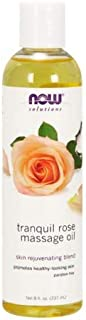 Now Foods Tranquil Rose Massage Oil 8 oz 2 Pack