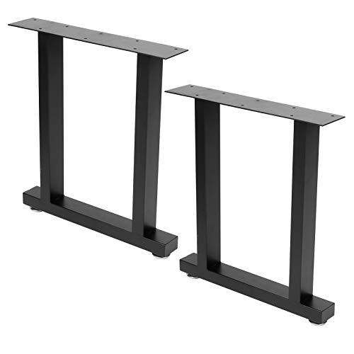 Patas de Mesa de Metal de Estilo Industrial 2 Piezas, Juego de 2 Patas de Muebles Rectangulares Patas de Mesa Pesadas, Carga Máxima de 800lb para Mesa de Comedor Mesa de Centro(S)