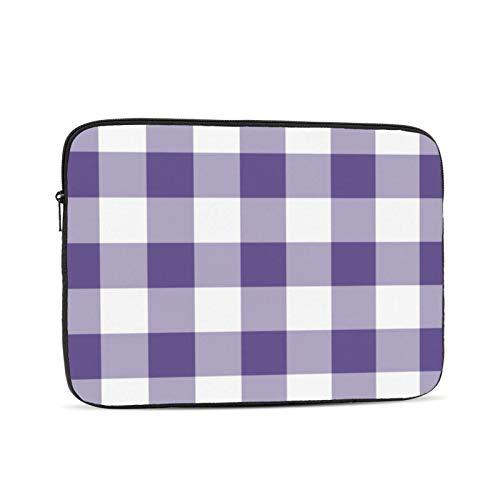 Funda protectora para ordenador portátil de 13 pulgadas, diseño de cuadros de cuadros de 13,3 pulgadas, compatible con MacBook Air de 13,3 pulgadas, color violeta
