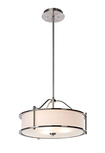 Pendant Lighting 18 inch 3 Light Drum Pendant Light with...