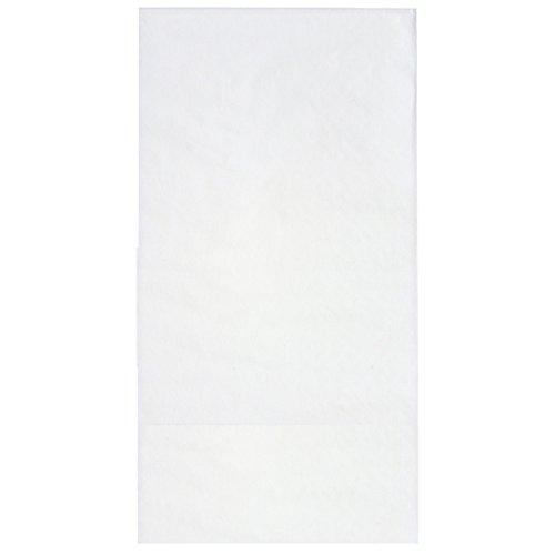 1000 Stück HUCHTEMEIER PapierServietten, 33 x 33 cm, 2-lagig, weiß, 1/8 Kopffalz Snackservietten für Imbiss, Gastronomie, Hotel, Events.