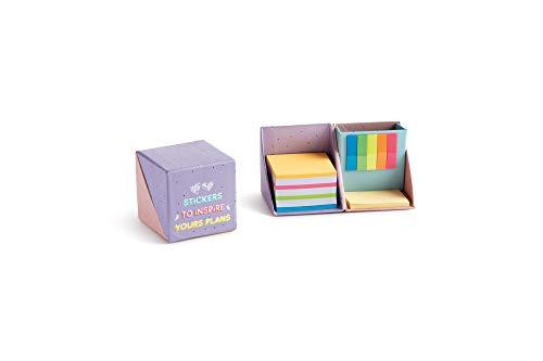 Miquelrius - Notas adhesivas - Colores pastel, marcadores, 3 tipos de notas diferentes, Back2Fun, Color Rosa
