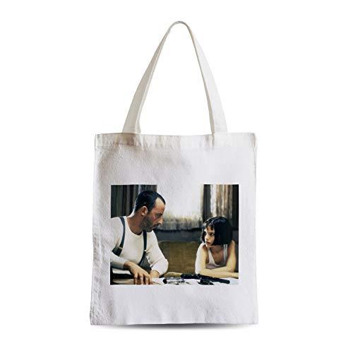 Big Canvas Tot Shopper Bag Jean Reno Nathalie Portman Leon Film Action Weapons Cinema