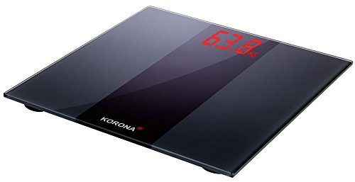 Korona 73560 Personenwaage Anna – digitale Personenwaage; compact und elegant; Farbe schwarz; 180 kg
