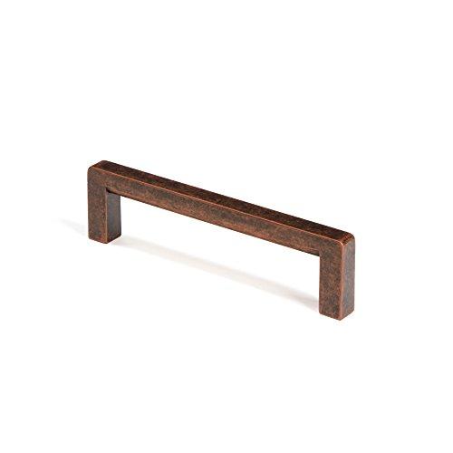 Design Schubladengriff Vintage 192 mm Möbelgriff Antik Kupfer verwittert Schrankgriff Küche - GR10012 | Bügelgriff aus Metall für Möbel & Kommoden | 1 Stück - Küchengriff mit Schrauben