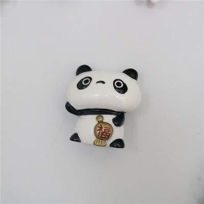 weichuang Imán para nevera, diseño de panda, para nevera, con mensaje en la habitación, para niños, regalos de cumpleaños o recuerdos, decoración del hogar, imán para nevera (color: 1)