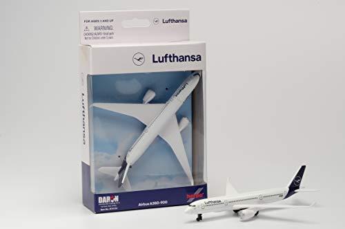 herpa RT4134 86RT-4134 – Airbus A350, Lufthansa Single Airplane, Wings, Modellflugzeug mit Standfuß, Spielzeug Flieger, Modellbau, Miniaturmodelle, Sammlerstück, Metall - Maßstab 1:500