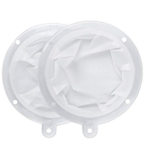 HAUSPROFI Sieb Filter Kompatibel mit 5 Zoll Küchen Trichter für Filterung von Saft, Milch, Kaffee, Wein - 200+400 Mesh