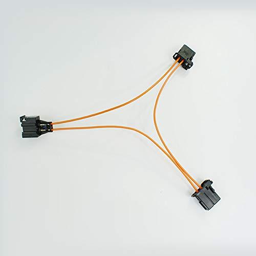 wroadavee Adaptateur en Y, MOST Câble de démarrage à fibre optique Connecteur multimédia mâle-mâle vers femelle