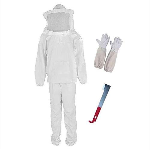 Professionelles Imker-Outfit, Imker-Anzug, Schutz mit Schleierhaube, für Bienenzüchter, inklusive Schutzjacke, Hose, Handschuhe, Schaber