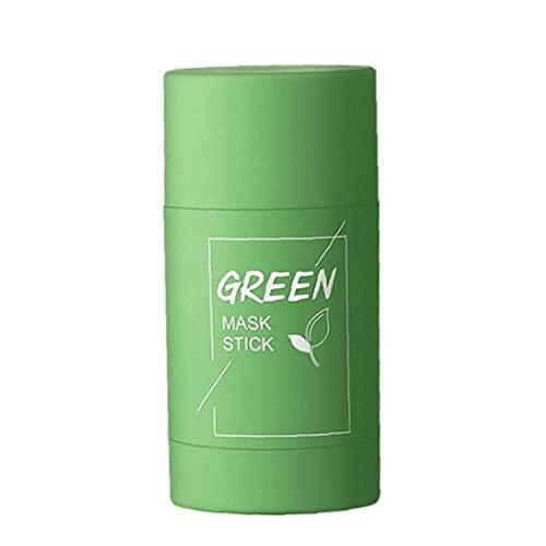 Berrywho Instrumento de Belleza Instrumentos FacialesColla en Poros Facia Hidratante Blanqueamiento Hidratante Té Verde Purificación Clay Stick Face Cubierta